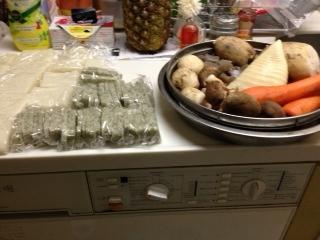 餅と煮物材料