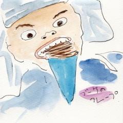 生クリーム+チョコクレープ