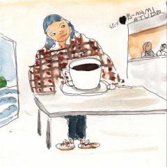 バーガーズカフェ ポンポンで出番待ち
