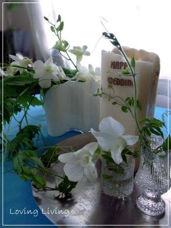 結婚10周年記念日 ディナー テーブルコーディネート フラワーアレンジメント 10th anniversary of marriage