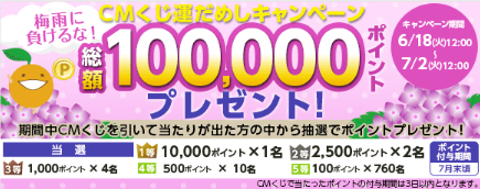 『フルーツメール』CMくじ運試しキャンペーン