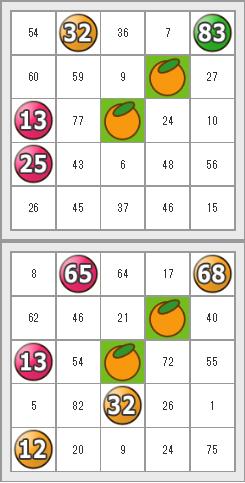 『フルーツメールBINGO』3