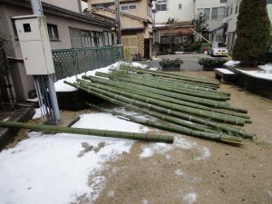 2012年12月28日AM 一本竹門松材の伐り出し・準備