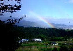 9月28日虹の景色