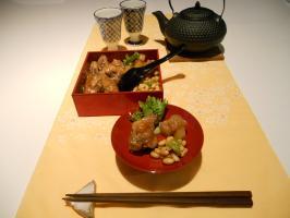 Chicken wing & Sake
