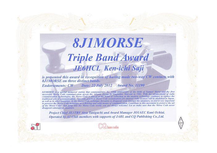 8j1morse award