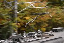 鉄道写真にチャレンジ!-115系信州色のパンタグラフ