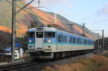 鉄道写真にチャレンジ!-115系 辰野~川岸間