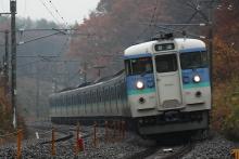 鉄道写真にチャレンジ!-115系信州色6両編成(小淵沢~長坂)