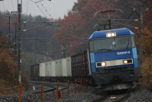 鉄道写真にチャレンジ!-EH200とコンテナ(小淵沢~長坂)