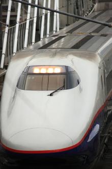 鉄道写真にチャレンジ!-長野新幹線「あさま」 顔アップ