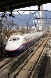 鉄道写真にチャレンジ!-長野新幹線「あさま」 下り後追い