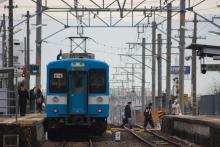 鉄道写真にチャレンジ!-飯田線554M、119系E4編成、羽場駅