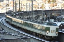鉄道写真にチャレンジ!-中央本線 回9460M 特急あずさ 183・189系国鉄色