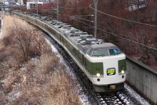 鉄道写真にチャレンジ!-中央本線 9081M 特急あずさ81号 183・189系国鉄色