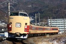 鉄道写真にチャレンジ!-中央本線 9077M 特急あずさ77号 国鉄色