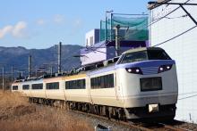 鉄道写真にチャレンジ!-中央本線 485系 いろどり(彩)