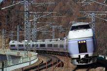 鉄道写真にチャレンジ!-特急スーパーあずさ 14号 立場川橋りょう