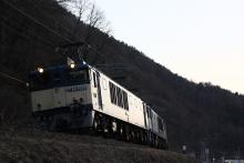 鉄道写真にチャレンジ!-中央西線 81レ EF64-1006 + EF64-1013 + コキ⑭