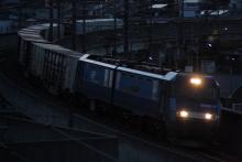 鉄道写真にチャレンジ!-中央本線 2082レ EH200-17 + コキ⑫