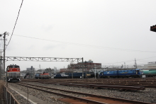 鉄道写真にチャレンジ!-南松本にて駐留中の機関車たち