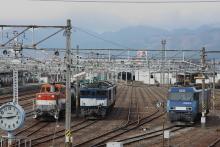 鉄道写真にチャレンジ!-南松本駅を塩尻方面から。