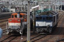 鉄道写真にチャレンジ!-DD10とEF64の並び