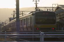 鉄道写真にチャレンジ!-中央本線 配9233レ EF64-1030 + E231系⑩