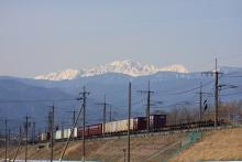 鉄道写真にチャレンジ!-2083レ EH200-6 + コキ⑫
