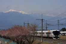 鉄道写真にチャレンジ!-中央本線 66M E257系 M-108 特急あずさ16号