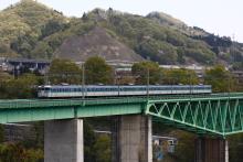 鉄道写真にチャレンジ!-中央本線 115系信州色 猿橋~鳥沢
