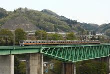 鉄道写真にチャレンジ!-中央本線 E233系 鳥沢鉄橋