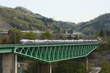 鉄道写真にチャレンジ!-中央本線 11M E351系 特急スーパーあずさ11号