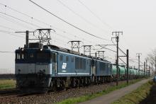 鉄道写真にチャレンジ!-中央西線 3088レ EF64-1049 + EF64-1012 + タキ⑯