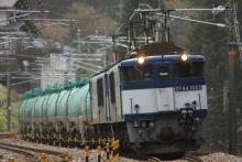 鉄道写真にチャレンジ!-中央西線 6883レ EF64-1023 + EF64-1018 + タキ⑯