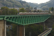 鉄道写真にチャレンジ!-中央本線 1269M E233系 猿橋~鳥沢