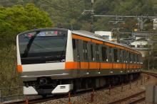 鉄道写真にチャレンジ!-中央本線 1650M E233系 猿橋~大月