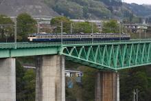鉄道写真にチャレンジ!-中央本線 549M 115系 スカ色 猿橋~鳥沢