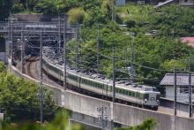 鉄道写真にチャレンジ!-中央本線 回9464M 183・189系 旧あさま色