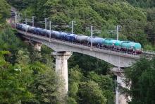鉄道写真にチャレンジ!-中央本線 5460レ EH200-901 + タキ11B