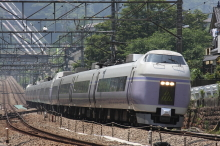 鉄道写真にチャレンジ!-特急スーパーあずさ 上野原駅