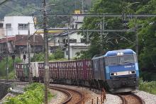 鉄道写真にチャレンジ!-竜王貨物 85レ EH200-17 + コキ4B