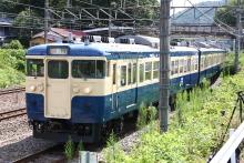 鉄道写真にチャレンジ!-富士河口湖号 115系 M40