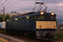 鉄道写真にチャレンジ!-単機回送 EF64-38 信濃大町工臨返空