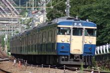 鉄道写真にチャレンジ!-中央本線 115系 スカ色 豊田車