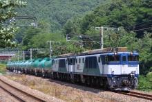鉄道写真にチャレンジ!-中央西線 EF64-1036+EF64-1024+タキ14B