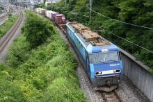 鉄道写真にチャレンジ!-2083レ EH200-20