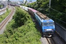 鉄道写真にチャレンジ!-2083レ EH200-10 + コキ