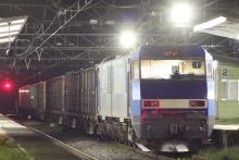 鉄道写真にチャレンジ!-2011.09.14 2082レ EH200-22 + コキ