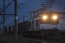 鉄道写真にチャレンジ!-中央西線 81レ EF64-1042 + EF64-1014 + コキ